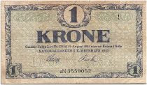 Denmark 1 Krone 1921 - F to VF - Letter 2N - P.12g