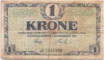 Denmark 1 Krone 1921 - VF - Letter 2K - P.12g