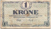 Denmark 1 Krone 1921 - VF - Letter 2N - P.12g