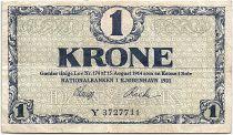 Denmark 1 Krone 1921 - VF - Letter Y - P.12f