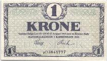 Denmark 1 Krone 1921 - XF - Letter 2O - P.12g