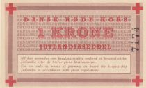 Denmark 1 Krone ND1947-58 - Red Cross