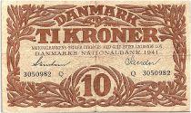 Denmark 10 Kroner 1941 - F + - Letter Q - P.31