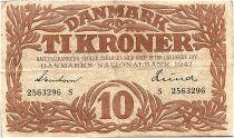 Denmark 10 Kroner 1942 - VF - Letter S - P.31l