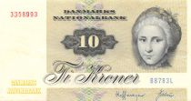 Denmark 10 Kroner C. S. Kirchhoff - Duck - Sign. Hoffmeyer - 1978 Serial B8 - VF+