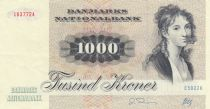 Denmark 1000 Kroner T. Heiberg - Squirrel - 1992 - P.53