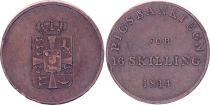 Denmark 16 Skilling,  Fréderic VI - 1814