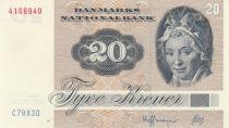 Denmark 20 Kroner, Pauline Tutein - House Sparrow - 1988 - Serial C7