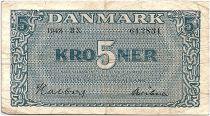 Denmark 5 Kroner 1948  - VF - Letter BN - P.35