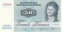 Denmark 50 Kroner, Mrs Ryberg - Fish  - 1989 - Serial C5