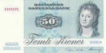 Denmark 50 Kroner, Mrs Ryberg - Fish  - 1996 - Serial D3- AU