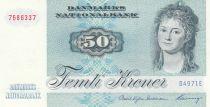 Denmark 50 Kroner, Mrs Ryberg - Fish  - 1997 - Serial D4- AU