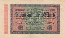 Deutschland 20000 Mark Black on pick and green - G D watermark 1923
