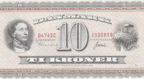 Dinamarca 10 Kroner H. Christian Andersen - White storks - 1974 - D4