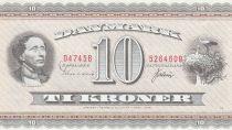 Dinamarca 10 Kroner Hans Christian Andersen - White storks - 1974 - D4