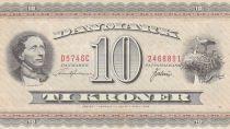 Dinamarca 10 Kroner Hans Christian Andersen - White storks - 1974