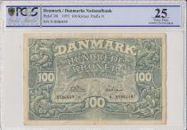 Dinamarca 100 Kroner Ornamentation of Dolphins -1955  - PCGS VF 25