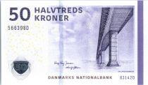 Dinamarca 50 Kroner Bridge - Jug 2014