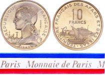 Djibouti 10 Francs - 1969 - Test Strike - Afars and Issas (Djibouti)