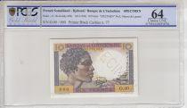 Djibouti 10 Francs Jeune Homme - 1946 Spécimen n° 77 PCGS 64