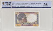 Djibouti 10 Francs Jeune Homme - 1946 Spécimen n° 79 PCGS 64