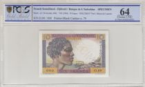 Djibouti 10 Francs ND- 1946 Specimen n° 79 - PCGS 64 - P.19s