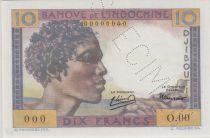 Djibouti 10 Francs ND1946 Young boy, camel - PCGS MS 66