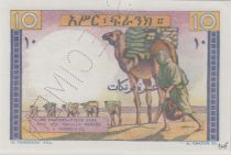 Djibouti 10 Francs ND1946 Young boy, camel - PCGS MS 66
