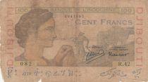 Djibouti 100 Francs - 1946 - G to VG - P.19A