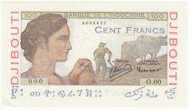 Djibouti 100 Francs - 1946 Specimen - AU - P.19As