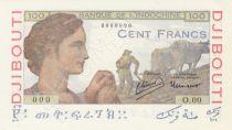 Djibouti 100 Francs - 1946 Specimen - UNC - P.19As