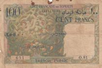 Djibouti 100 Francs  1952 - Serial O.81 - VG - P.26