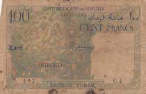 Djibouti 100 Francs  1952 - Serial U.4 - VG - P.26