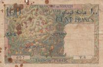 Djibouti 100 Francs  1952 - Serial V.6 - VG - P.26