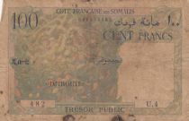 Djibouti 100 Francs Corail - Palmier - 1952 - Série  U.4 - p.TB  - P.26