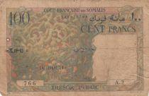 Djibouti 100 Francs Corail - Palmier - 1952 - Série A.2 - p.TB  - P.26