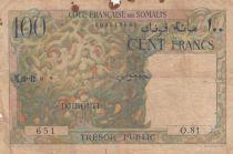 Djibouti 100 Francs Corail - Palmier - 1952 - Série O.81 - p.TB  - P.26