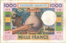 Djibouti 100 Francs Corail - Palmier - 1952