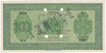 Djibouti 100 Francs Palestinian printing - 1945 Specimen Q.4 - AU - P.16