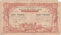 Djibouti 100 francs Papeete Tahiti surchargé Djibouti - 02-01-1920 Série Z.6