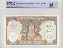 Djibouti 100 Francs Ruines Angkor - Spécimen - 1931 PCGS 65 OPQ