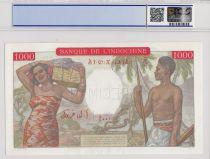 Djibouti 1000 Francs a-plats-rouges  ND1938 - PCGS AU58 Spécimen