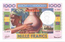 Djibouti 1000 Francs femme à la  jarre ND 1946 - Spécimen