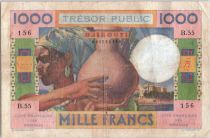 Djibouti 1000 Francs Femme à la jarre - 1952 - B.55