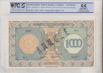 Djibouti 1000 Francs Impr. Palestine - 1945 Spécimen M.2 - SPL