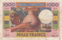 Djibouti 1000 Francs ND 1946  - P.20 - VF