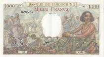Djibouti 1000 Francs ND1938 Scène de marché - SUP+ / P.SPL- Série U.82