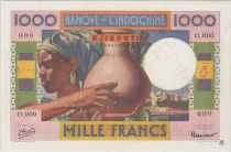 Djibouti 1000 Francs ND1946 woman, jar - PCGS MS 62