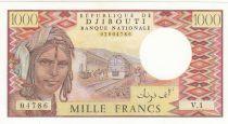 Djibouti 1000 Francs ND1979 - Homme, train, chameaux - Série V.1