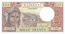 Djibouti 1000 Francs ND1995 - Homme, train, chameaux - Série T.004